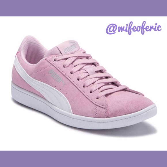 a63c67be5 Puma Shoes | Vikky Winsome Orchid Suede Sneakers Sz 10 | Poshmark